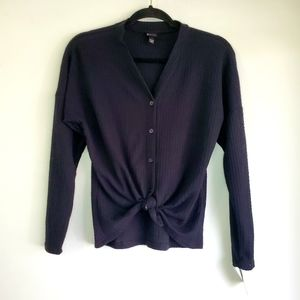 Art Class Black Button Up Cardigan Sweater